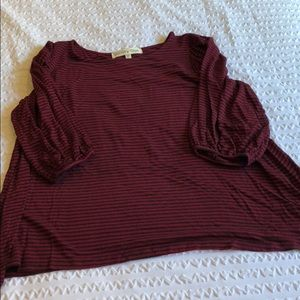 Tops - Paisley Raye striped violet top